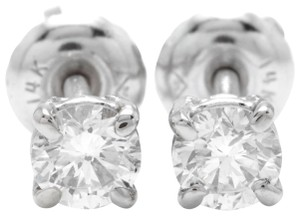Other 0.40Ct Natural VS2-SI1 Diamond 14k Solid White Gold Stud Earrings