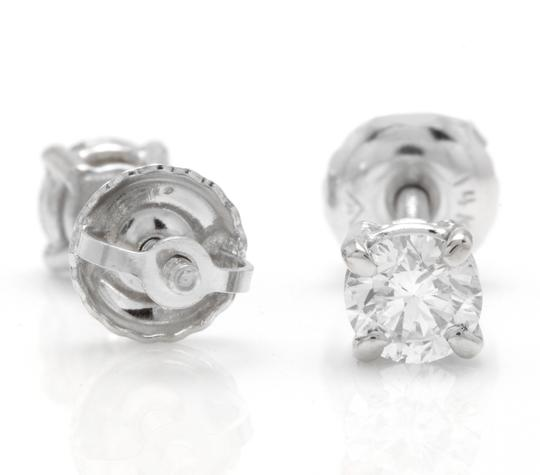 Other 0.40Ct Natural VS2-SI1 Diamond 14k Solid White Gold Stud Earrings Image 1