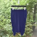 Catherine Malandrino Pencil Work Ruched Skirt Navy Blue Image 2