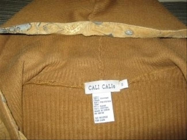 Cali Cali Gold Tone Two Piece Suede with hand painted accent
