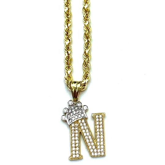 Preload https://img-static.tradesy.com/item/25496008/2004-10k-yellow-gold-rope-chain-with-initial-n-charm-necklace-0-0-540-540.jpg