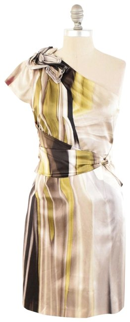 Elie Tahari Abstract Print Stretch Silk Charmeuse Sheath Dress Image 0