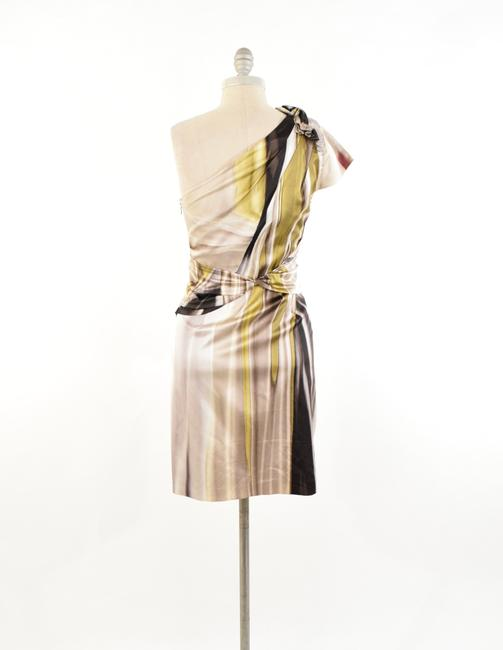 Elie Tahari Abstract Print Stretch Silk Charmeuse Sheath Dress Image 3