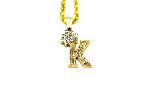 Preload https://img-static.tradesy.com/item/25496026/2006-10k-yellow-gold-cz-letter-k-with-rope-chain-necklace-0-0-540-540.jpg
