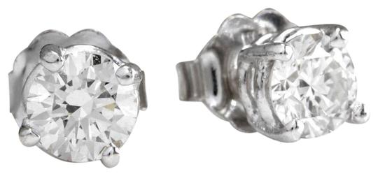 Other .60Ct Natural VS2-SI1 Diamond 14k Solid White Gold Stud Earrings Image 0