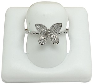 other 14K White Gold Natural Genuine Diamond Butterfly Ring
