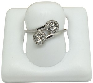 other 14K White Gold Natural Genuine Diamond Bypass Style Ring