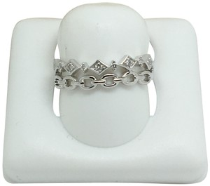 other 14K White Gold Natural Genuine Diamond Double Band Style Ring