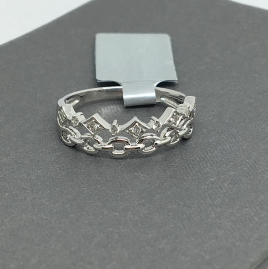 other 14K White Gold Natural Genuine Diamond Double Band Style Ring Image 1