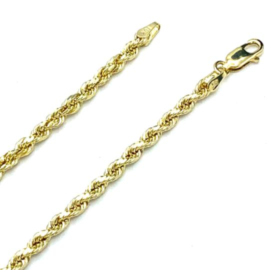 Other (2005) 10k Yellow Gold Rope Chain with Initial W Charm Necklace Image 3
