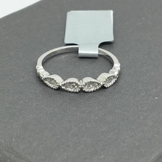 other 14K White Gold Natural Genuine Diamond Band Image 1