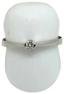 other 14K White Gold Natural Genuine Solitaire Diamond Ring