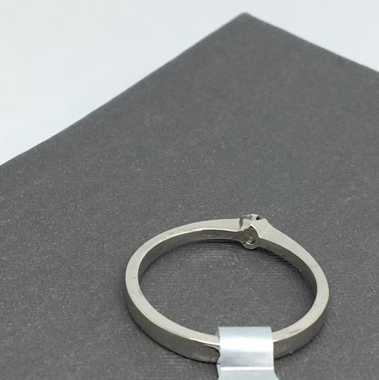 other 14K White Gold Natural Genuine Solitaire Diamond Ring Image 3