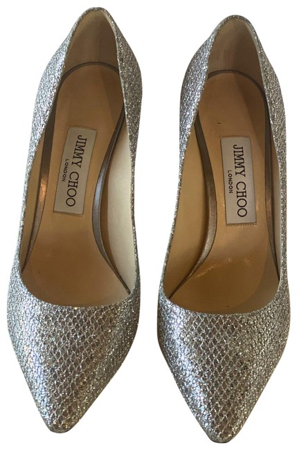 Item - Silver Sparkle Fabric Romy 85 Formal Shoes Size EU 37.5 (Approx. US 7.5) Regular (M, B)
