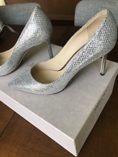 Jimmy Choo Silver sparkle fabric Formal Image 2