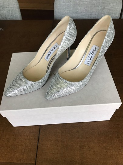 Jimmy Choo Silver sparkle fabric Formal Image 3