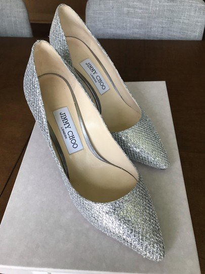 Jimmy Choo Silver sparkle fabric Formal Image 4
