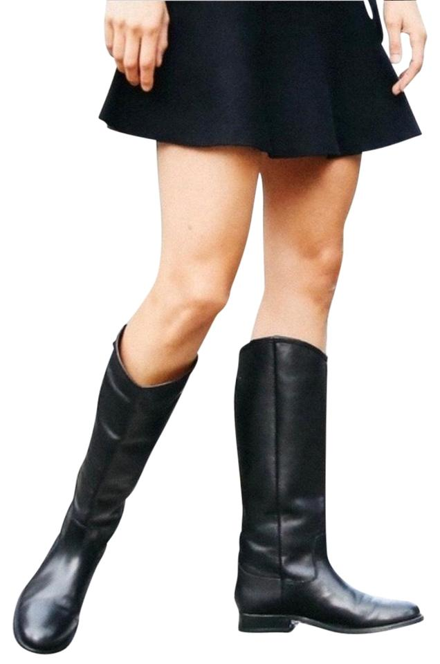 e4f7c85dd97 Frye Black Melissa Pull On Leather Equestrian Knee Tall Riding  Boots/Booties Size US 6.5 Regular (M, B) 52% off retail