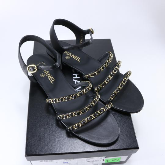 Chanel Mules Rare Runway Logo black Sandals Image 1