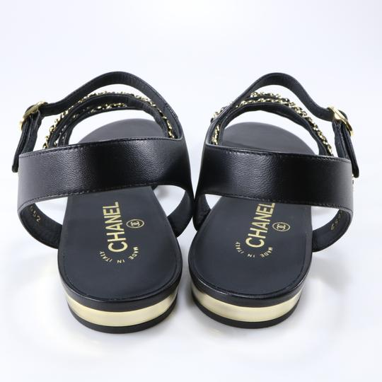 Chanel Mules Rare Runway Logo black Sandals Image 10