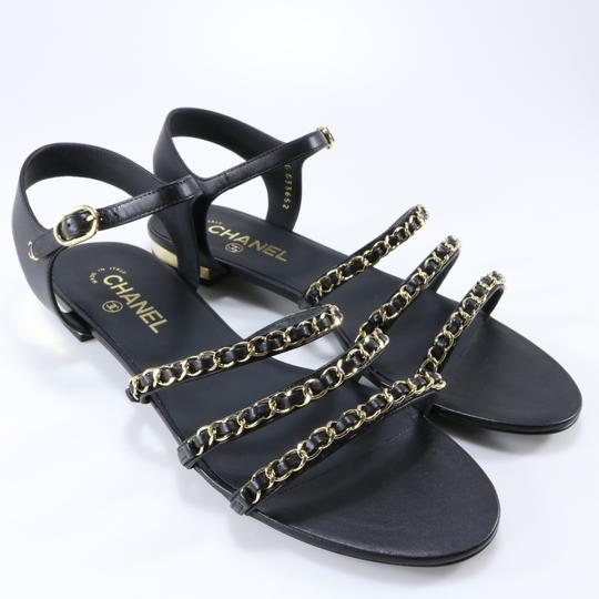 Chanel Mules Rare Runway Logo black Sandals Image 2