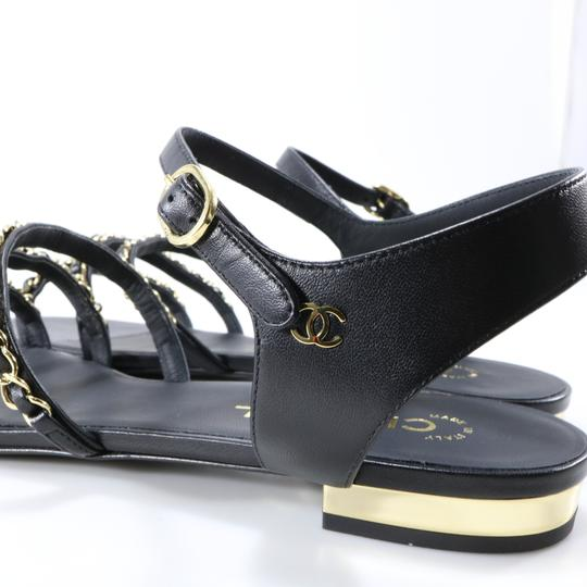 Chanel Mules Rare Runway Logo black Sandals Image 6