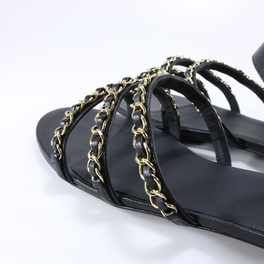 Chanel Mules Rare Runway Logo black Sandals Image 7