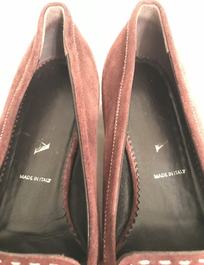 Prada Suede Loafers Leather Moccasins Made In Italy Brown Flats Image 10