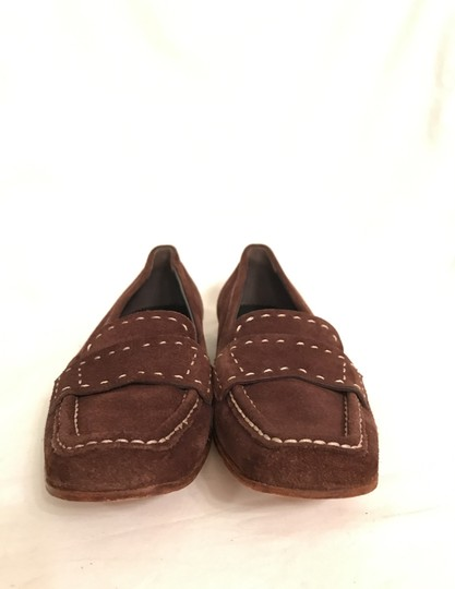 Prada Suede Loafers Leather Moccasins Made In Italy Brown Flats Image 2