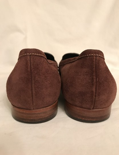 Prada Suede Loafers Leather Moccasins Made In Italy Brown Flats Image 4