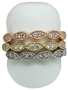 other 14K Tri-Color Natural Diamond Rings Set