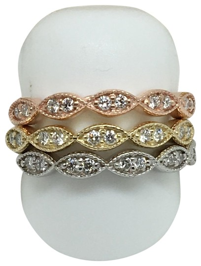 other 14K Tri-Color Natural Diamond Rings Set Image 0