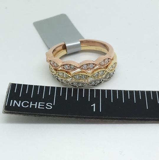 other 14K Tri-Color Natural Diamond Rings Set Image 5