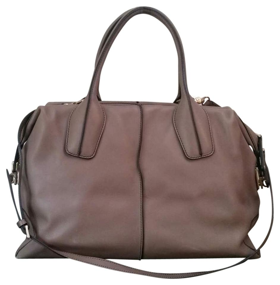 f3812fe8a2242 Tod's D-styling Large Bauletto Zip Taupe Leather Tote - Tradesy