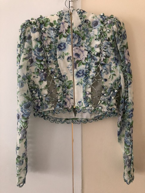 ZIMMERMANN Top Blue green purple white floral Image 1