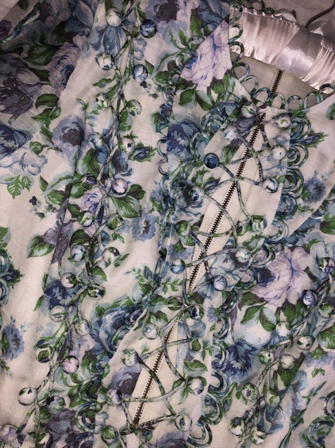 ZIMMERMANN Top Blue green purple white floral Image 3