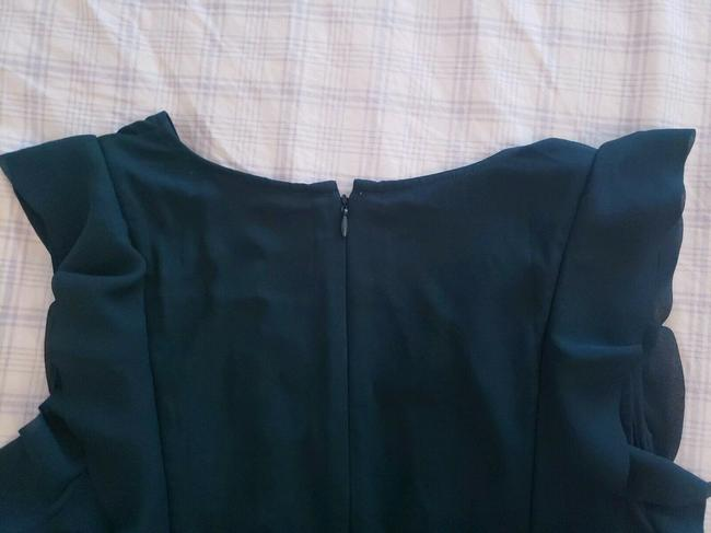 Ann Taylor Flutter Ruffle V-neck Top Hunter Green Image 5
