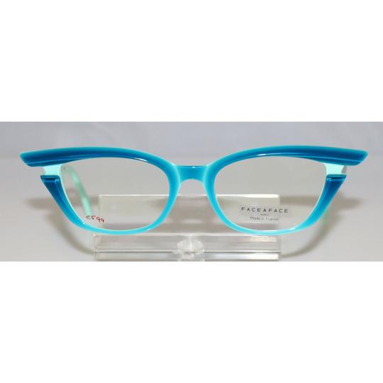 Bocca Face A Face New Face A Face Bocca Stars 1 Col. 2259 turquoise and blue Eyeglasses Image 1