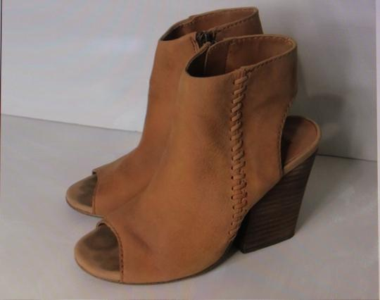 Steve Madden Open Toe Detail Suede Tan Carmel Boots Image 2