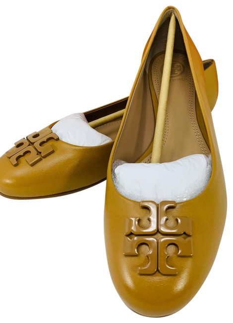 Tory Burch Blond/703 Lowell 2 Leather Ballet Tan Flats Size US 8 Regular (M, B) Tory Burch Blond/703 Lowell 2 Leather Ballet Tan Flats Size US 8 Regular (M, B) Image 1