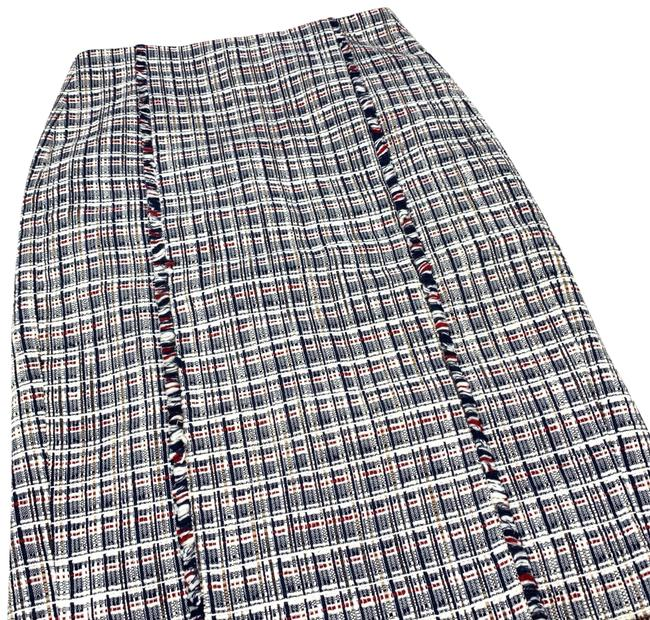 Item - Blue White Red Pencil Skirt Size 00 (XXS, 24)