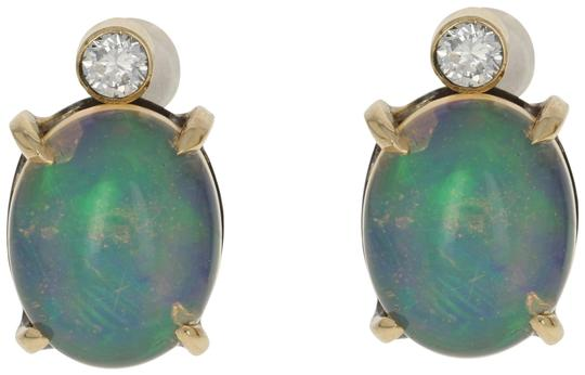 Preload https://img-static.tradesy.com/item/25496285/18k-yellow-gold-new-363ctw-oval-cabochon-welo-opal-and-diamond-e3618-earrings-0-1-540-540.jpg
