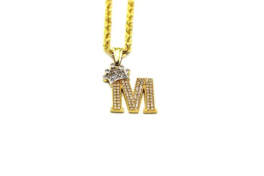 Preload https://img-static.tradesy.com/item/25496295/2007-10k-yellow-gold-cz-letter-m-with-rope-chain-necklace-0-1-540-540.jpg