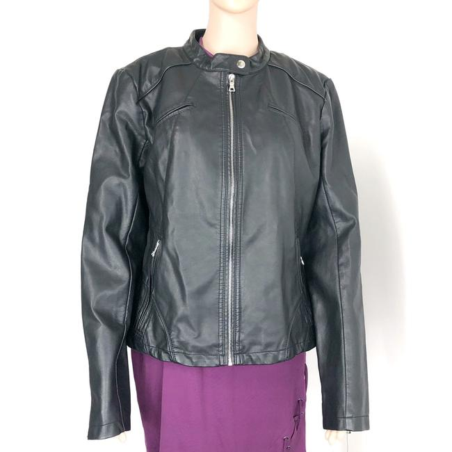 Guess Leather Jacket Image 1