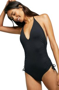 SeaFolly Seafolly Active Ruched Side Deep V Maillot One-Piece