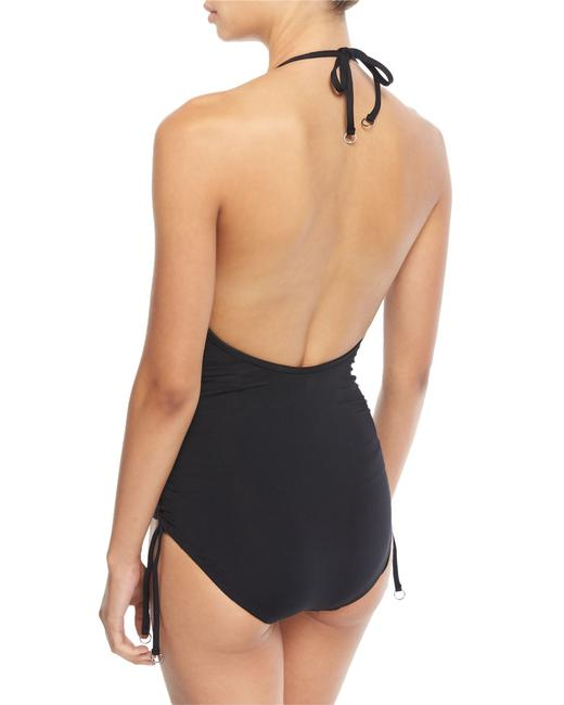 SeaFolly Seafolly Active Ruched Side Deep V Maillot One-Piece Image 4