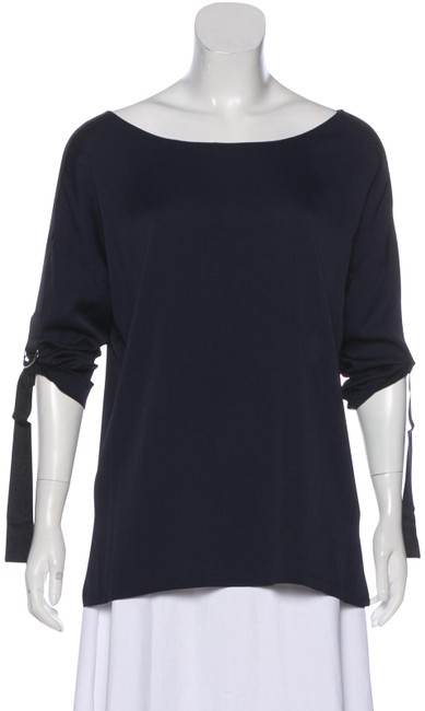 Preload https://img-static.tradesy.com/item/25496413/vince-black-xs-navy-silk-boat-neck-military-tunic-blouse-size-2-xs-0-1-650-650.jpg