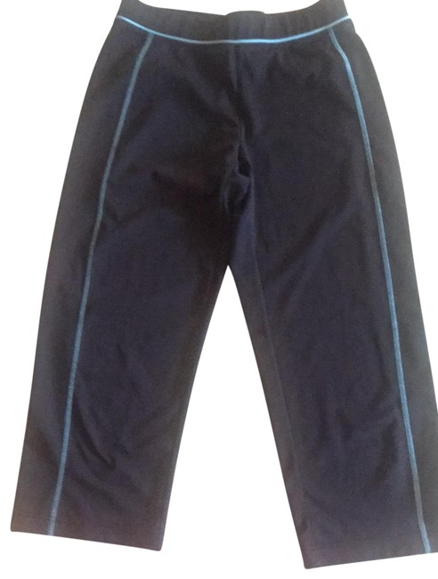 Item - Black with Blue Trim Yoga Pants Activewear Bottoms Size 4 (S)