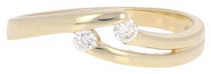 Other Round Cut Cubic Zirconia Ring - 8k Yellow Gold Bypass Women's E3930
