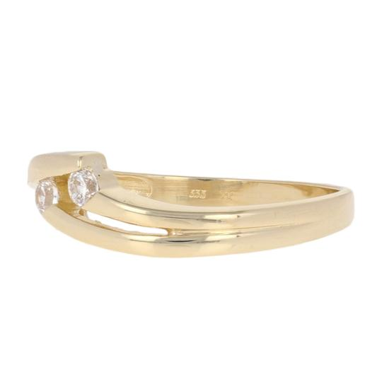 Other Round Cut Cubic Zirconia Ring - 8k Yellow Gold Bypass Women's E3930 Image 1